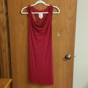 Racerback Red dress with crochet back detail